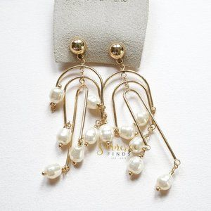Urban Outfitters Goddess Pearl Statement Earrings